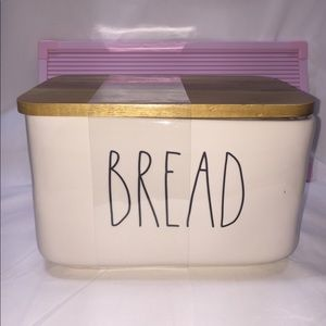 Rae Dunn BREAD ceramic Canister with wood lid